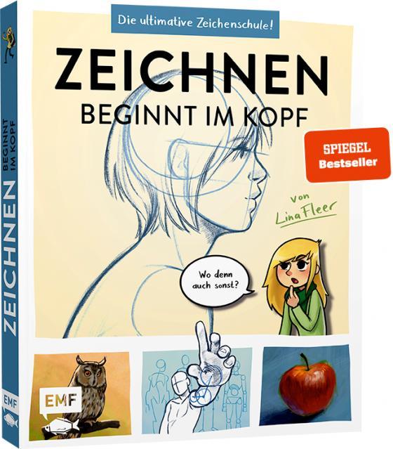 Cover-Bild Zeichnen beginnt im Kopf – Die ultimative Zeichenschule von YouTube-Zeichnerin LinaFleer