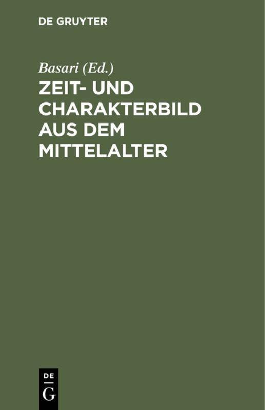 Cover-Bild Zeit- und Charakterbild aus dem Mittelalter
