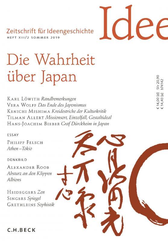 Cover-Bild Zeitschrift für Ideengeschichte Heft XIII/2 Sommer 2019