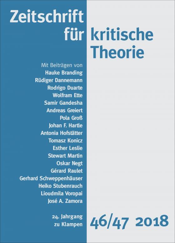 Cover-Bild Zeitschrift für kritische Theorie, Heft 46/47