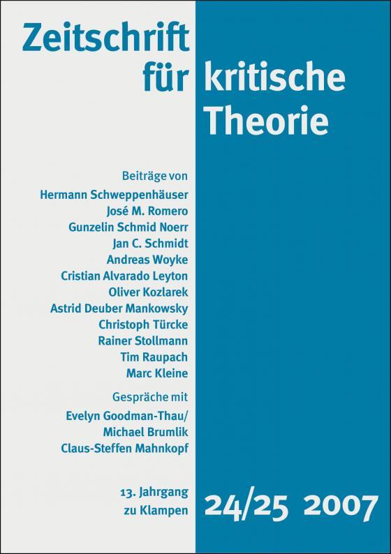 Cover-Bild Zeitschrift für kritische Theorie / Zeitschrift für kritische Theorie, Heft 24/25