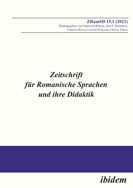Cover-Bild Zeitschrift für Romanische Sprachen und ihre Didaktik