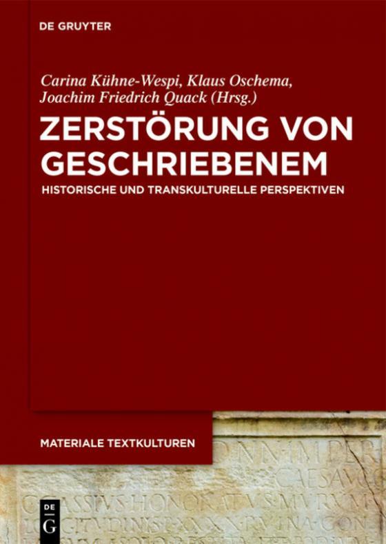 Cover-Bild Zerstörung von Geschriebenem