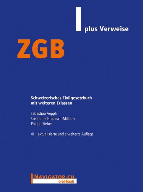 Cover-Bild ZGB plus Verweise