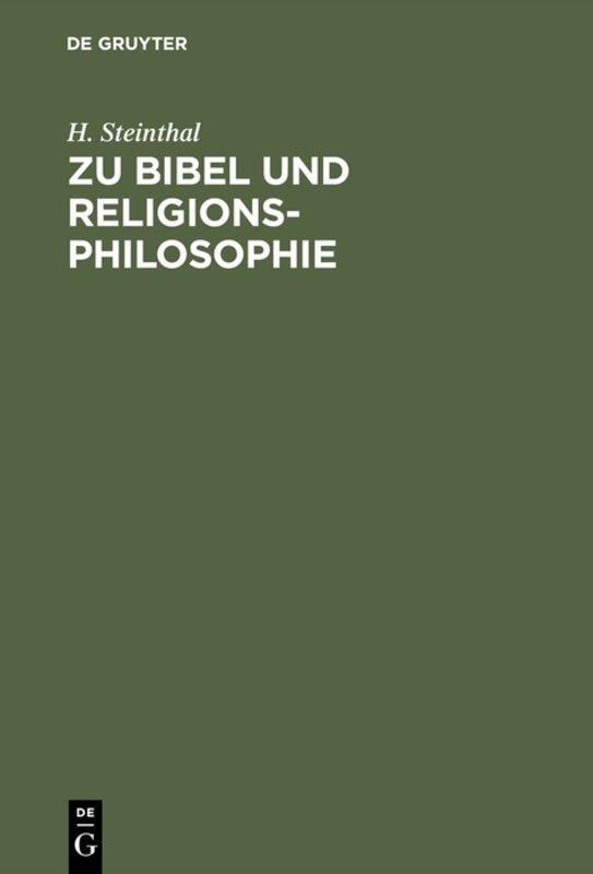 Cover-Bild Zu Bibel und Religionsphilosophie