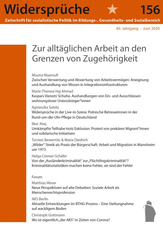 Cover-Bild Zur alltäglichen Arbeit an den Grenzen von Zugehörigkeit