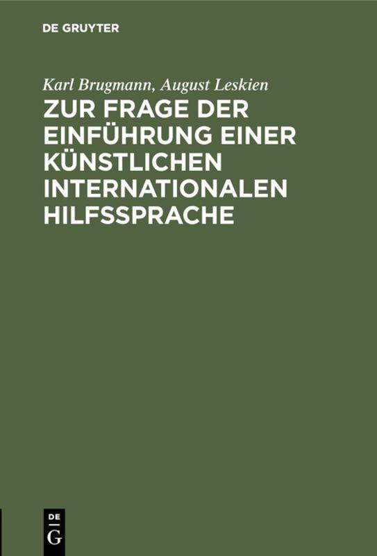 Cover-Bild Zur Frage der Einführung einer künstlichen internationalen Hilfssprache