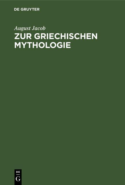 Cover-Bild Zur griechischen Mythologie