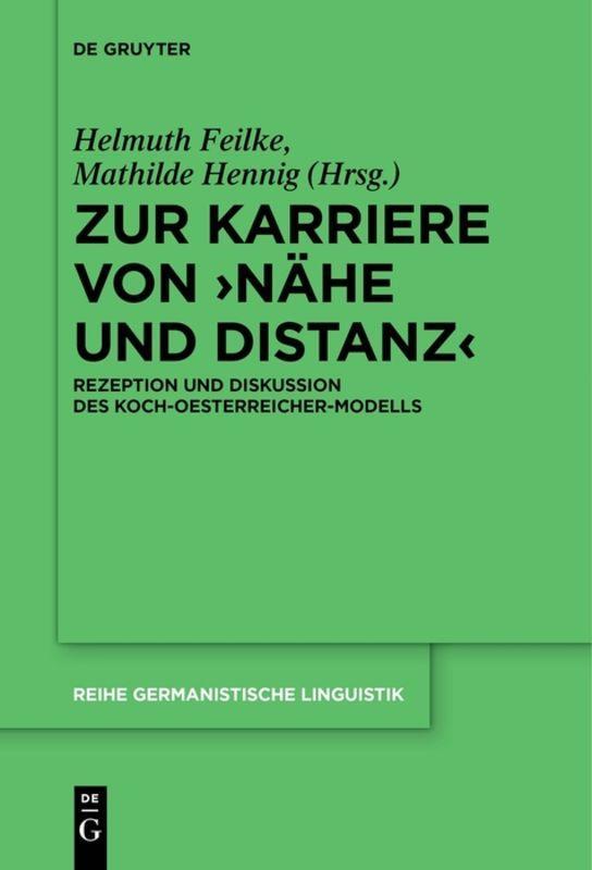 Cover-Bild Zur Karriere von ›Nähe und Distanz‹