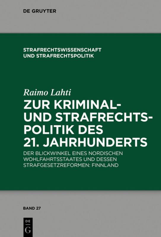 Cover-Bild Zur Kriminal- und Strafrechtspolitik des 21. Jahrhunderts