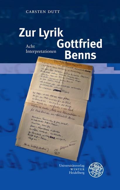 Cover-Bild Zur Lyrik Gottfried Benns