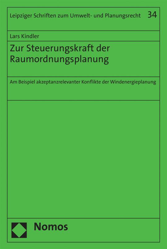 Cover-Bild Zur Steuerungskraft der Raumordnungsplanung