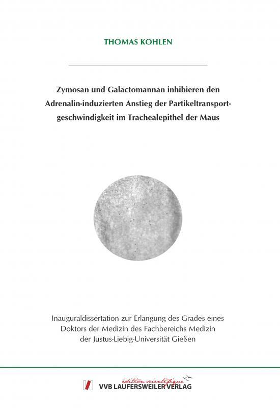 Cover-Bild Zymosan und Galactomannan inhibieren den Adrenalin-induzierten Anstieg der Partikeltransportgeschwindigkeit im Trachealepithel der Maus