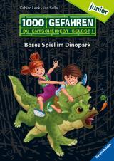 """Cover-Bild 1000 Gefahren junior - Böses Spiel im Dinopark (Erstlesebuch mit """"Entscheide selbst""""-Prinzip für Kinder ab 7 Jahren)"""