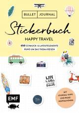Cover-Bild Bullet Journal – Stickerbuch Happy Travel: 750 Schmuck- und Layoutelemente rund um das Thema Reisen