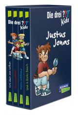 Cover-Bild Die drei ??? Kids: 4 Bände im Schuber (SOS über den Wolken, Spuk in Rocky Beach, Die Gruselfalle, Mission Goldhund)