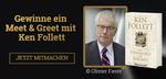 """Gewinne eines von 5 """"Meet & Greets"""" mit Ken Follett auf der Frankfurter Buchmesse"""